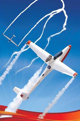 Bob Carlton in the Super Salto jet sailplane