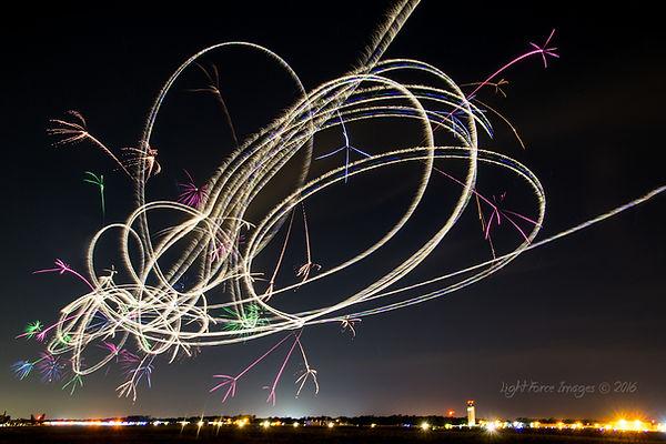 Bob Carlton night pyro aerobatics