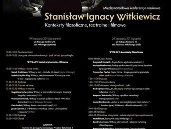 Stanisław Ignacy Witkiewicz: Konteksty filozoficzne, teatralne i filmowe