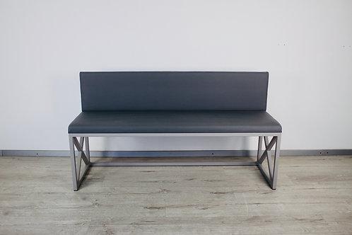 Скамейка мягкая модель LOG серая