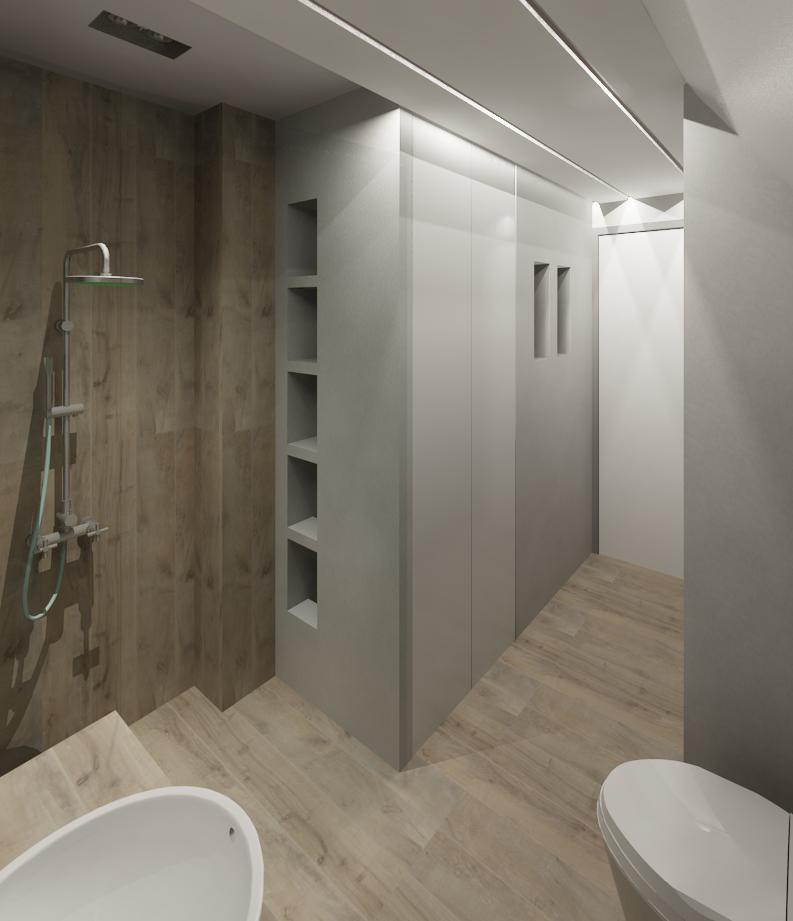 Bathroom storage/ shower