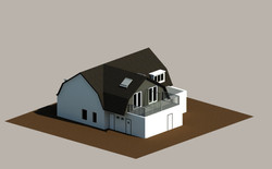 3D View with Extended Building Part