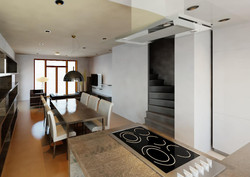 3D view from kitchen