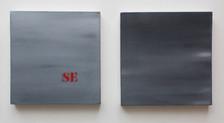 cieli, oil on canvases, 30x30 each 2017