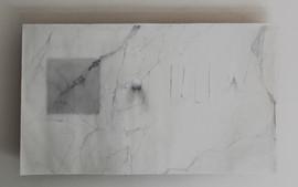 trompe l'oeil,oil and graphite on linen 50x110 cm 2016