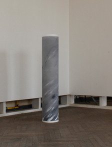 column, rolled false Carrara marble 30x150 cm 2016