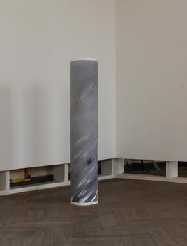 column, rolled false Carrara marble 30x150 cm 2016