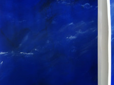 false Blue marble, acrylic on paper 2017
