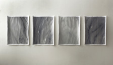 false Carrara marble, acrylic and compressed pigment on paper 65x50 cm each 2015