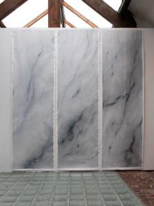 false carrara marble triptic 70x250 each