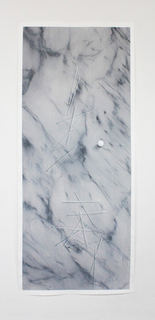 trompe l'oeil_02, acrylic and graphite on paper 70x160cm 2016