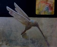 dai-me . olio, acrilico e collage su tela 100x80 cm 2011