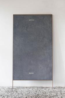 rilievo - oil on linen with wood frame 95x160cm+20 cm frame 2018