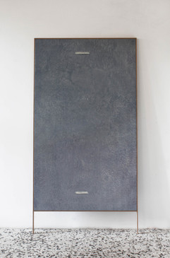 rilievo - oil on linen with wood frame 95x160cm+20 cm frame 2018