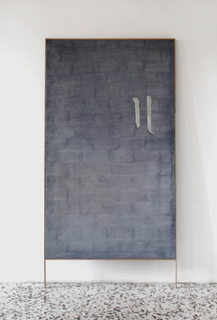 frottage_01 - oil on linen with wood frame 95x160cm+20 cm frame 2018