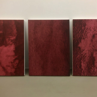 frottage_madonna delle rocce. oil on canvas 60x45cm ech 2019