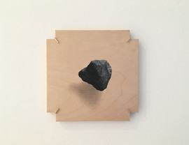 floating object  - acrylic and graphite on wood 20x20cm 2018