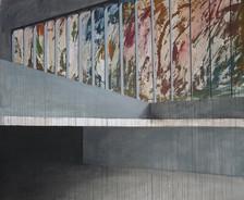 the space between-acrilico su tela-190x145cm 2012