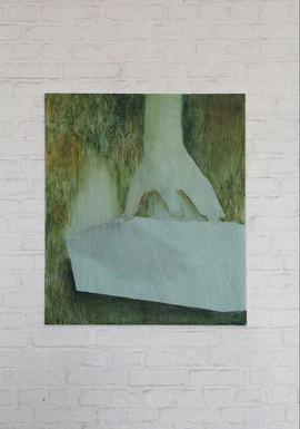 studio sulla materia, acrylic and oil on canvas 60x50 cm 2016