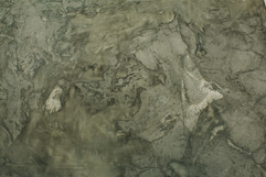 floating objects on the channel, oil on paper 120x300cm 2017
