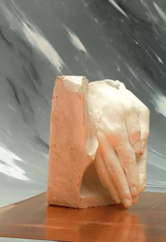 il peso dell'antichità, plaster and false Carrara marble 2017
