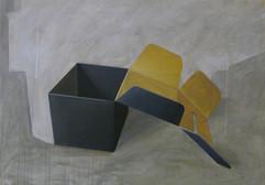 scatola nera acrilico su tela 100x120 cm