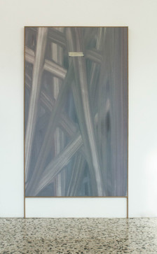 tabula rasa - oil on linen with wood frame 95x160cm+20 cm frame 2018