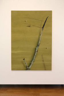floating objects - oil on linen 158x98 cm 2017