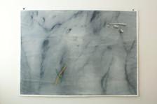 trompe l'oeil_false Carrara marble, acrylic and compressed pigment on paper 150x200 cm 2015