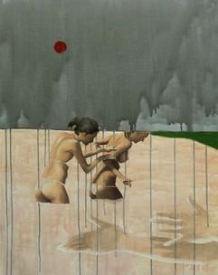 le bagnanti . olio acrilico su tela 85x65 cm . 2010 collezione privata