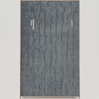 frottagr_08 | 2019, recto-verso doppia intelaiatura indivisibile, olio e stampa da disegno originale a grafite su tela e cornice in rovere, 182 x 97 cm