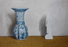classicità o vaso dipinto a mano, oli and acrylic on linen 98x158cm 2015
