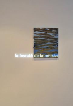 la beauté de la mer, acrylic and projection on canvas 40x50cm 2017