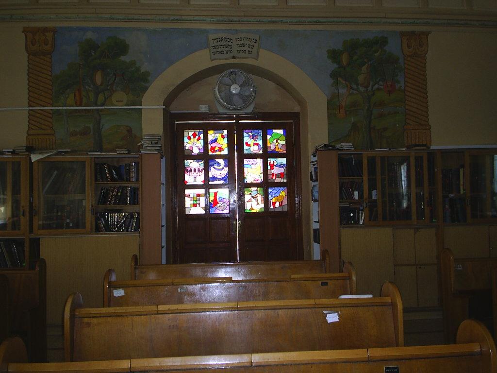 ביש  ויטראז'ים בדלתות בית הכנסת הגדו