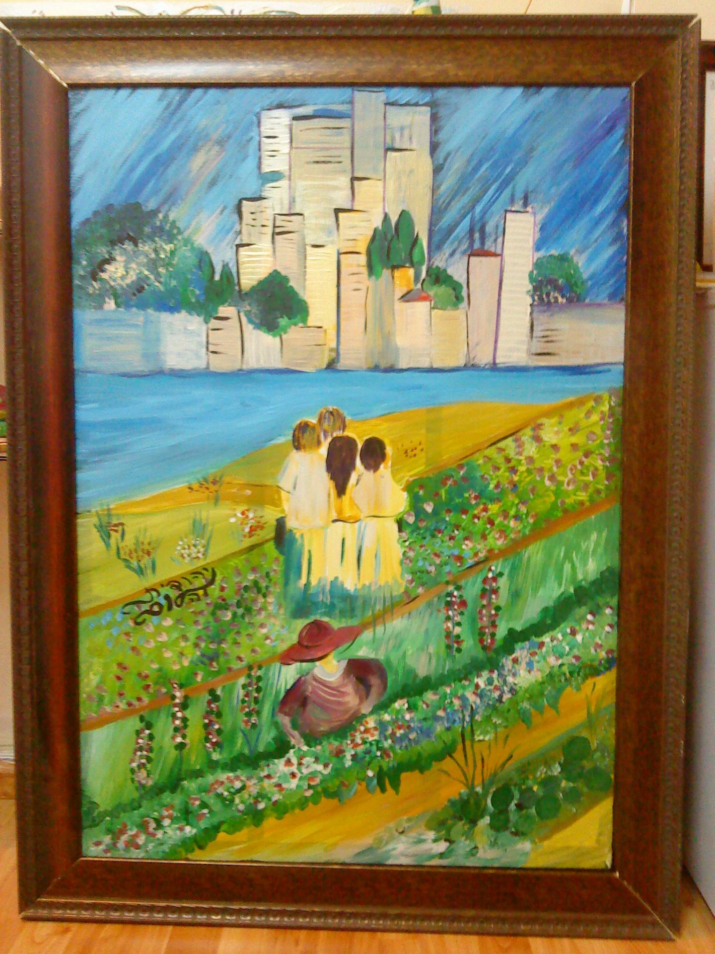 ציור מתערוכה בן ממשיך