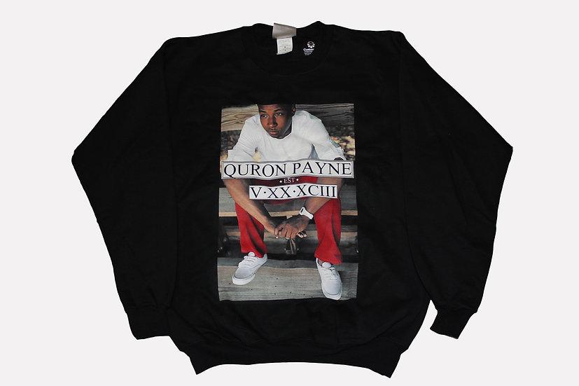 Quron Payne Black Crew Neck Sweatshirt