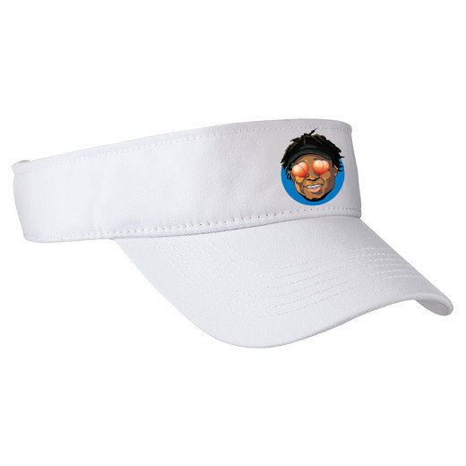 Quron Peach Eyes Visor (White)