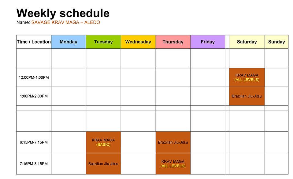 Savage Krav Maga Schedule Aledo.jpg