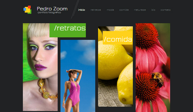 Fotografia website templates – Site de Fotógrafo