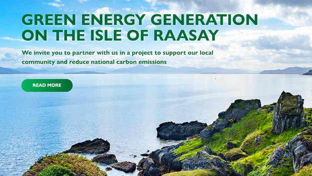 Commitment to sustainability: investment in Raasay renewable energy project