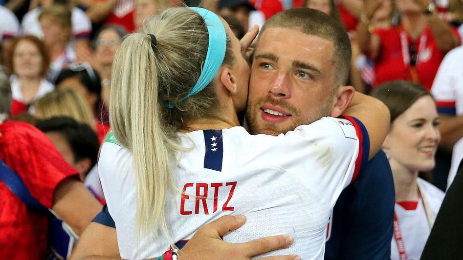 Julie and Zach Ertz