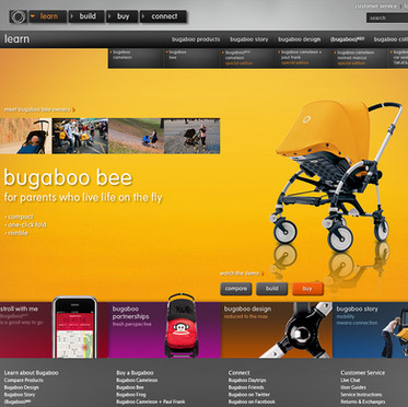Bugaboo x 72andsunny: Website Launch