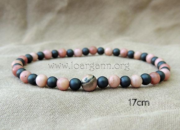 Bracelets Hematite & Rhodonite
