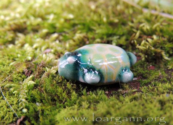 Perle céramique Tortue (trou 3mm) 24x21x12mm (n° P11)