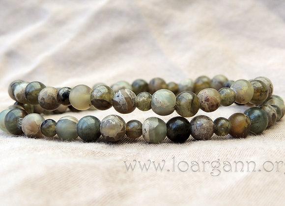 Bracelet double Labradorite & Jaspe Aqua
