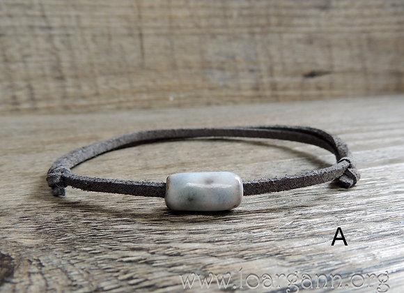 Bracelets ajustable suedine et céramique