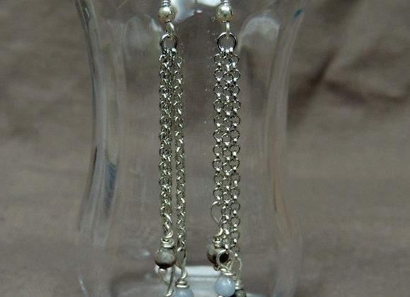 Boucles d'oreille Rhodochrosite (argent925)