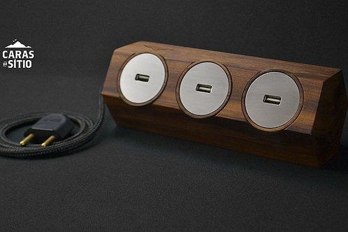 BARRA HEX COM 3 USB