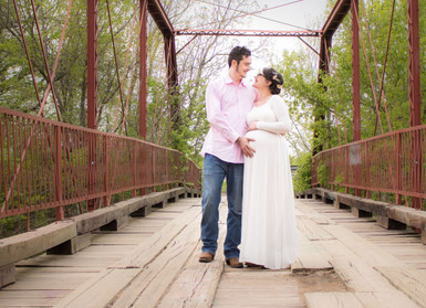 rustic bridge engagement