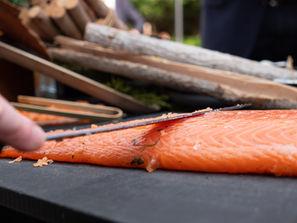 Animation culinaire - Découpe de saumon